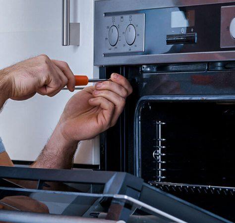 Freestanding stove repair man